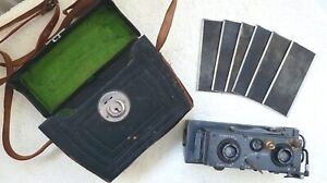 Early 1900s Verascope Stereo Camera w/Film Back & Case. Tessar Zeiss 1.45 F-55