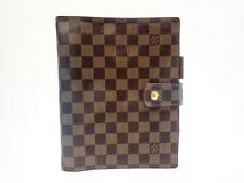 Louis Vuitton Monogram Damier Ebene Gm Day Planner Cover Diary R20107 Brown Big