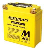 Motobatt MB5U Entièrement Étanche Batterie Moto , Mise Remplacement CB5LB/YB5LB