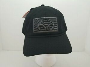 NWT Realtree Active Cap Embroidered American Flag Hat Black
