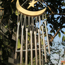 Amazing 9 Tube Moon Star Wind chimes Yard Garden Outdoor Living Wind Chimes 58CM