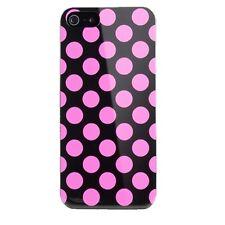 Cygnett Tonic iPhone 5S 5 & SE Polkadot Ultra Slim Slimfit Case/Cover Black/Pink