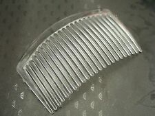10 Clear Plastic Smooth Hair Clips Side Combs Pin 82X50mm for Ladies Craft
