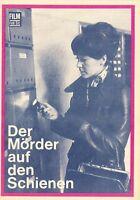 Film für Sie Filmprogramm 2/71 Der Mörder auf den Schienen 1971 DDR