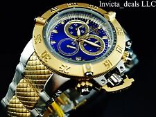 Invicta Mens 50mm Subaqua Noma III Swiss Chronograph Blue Dial Two Tone SS Watch
