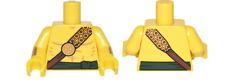 LEGO Yellow Torso Bare Chest Gold Strap Sash Desert Warrior Minifigure