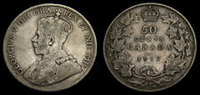 Canada 1917 Fifty 50 Cent Piece King George V VG-10