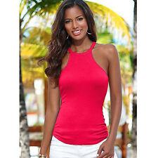 Sexy Women Girl Summer Vest Tops Sleeveless Blouse Casual Tank Halter Shirt
