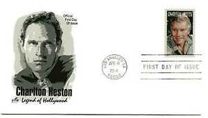 4892 Charlton Heston, Legend of Hollywood 2014, ArtCraft, FDC