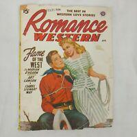 Vintage Romance Western Pulp Magazine Vol 1 No 1 First Issue April 1948