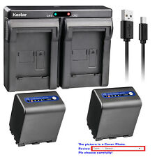 Kastar Battery Dual USB Charger for Sony NP-QM91D & Cyber-shot DSC-F828 DSC-R1
