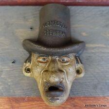 Warlock Cast Iron Bottle Opener Wall Mounted Antique Finish, Garage Bar Man Cave
