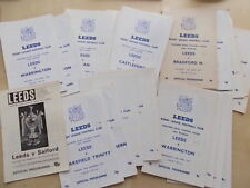 More details for job lot of 25 rugby league programmes all featuring leeds homes 1970s