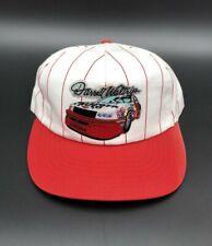 Vintage Darrell Waltrip Chevy Car White Red Stripe Trucker Race Hat NASCAR Cap