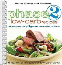 Phase 2 Low-Carb Recipes (2005, Spiral)