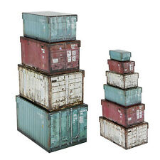 10 Scatole conservazione assortita portaoggetti contenitori industriali