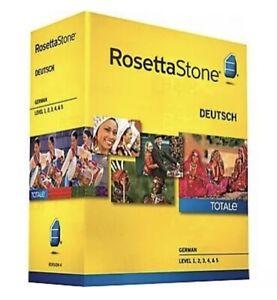 SEALED Rosetta Stone Ver. 4 TOTALe: German Level 1-5 Set