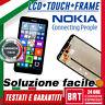 DISPLAY LCD+TOUCH SCREEN+FRAME PER MICROSOFT NOKIA LUMIA 640 LTE RM-1072 VETRO!!