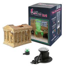 Hydor H2Show Greek Temple Kit with Green LED and an Ario bubble maker