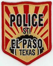 TEXAS TX EL PASO POLICE STI NEW PATCH PATCH SHERIFF