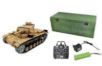 RC Panzer Tauchpanzer III Schuss Rauch Sound  Metallgetriebe/Metallketten 23047