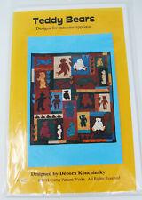 Vintage Critter Pattern works Quilt Debora Konchinsky #9402 Teddy Bears 1994