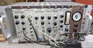 ORTEC Model 449 Ratemeter,401A BIN,441,420A,451,454,453,425,457 + Power Supply