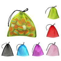 Carrying Mesh Drawstring Gear Bag for Golf Table Tennis Ball Scuba Dive Reel