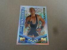Carte catch Slam Attax Mayen 2010 Bleu - Jack Swagger - Champion