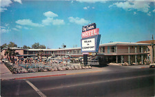 LAS VEGAS NV CITY CENTER MOTEL FREMONT STREET CHROME POSTCARD