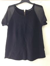 Ladies Top Size M. Smart/Office Evening Top.Thick Material & Mesh Style Sleeves