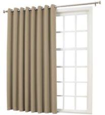 """*Sun Zero Emory Room-Darkening Grommet-Top Patio Door Panel 100""""Wx84""""L Taupe NEW"""