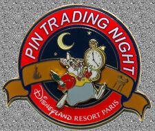 White Rabbit (Wonderland) Pin Trading Night Pin - DLP Paris - DISNEY Pin LE 400