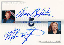 The Complete Babylon 5 Double Autograph DA1 Bruce Boxleitner and Melissa Gilbert