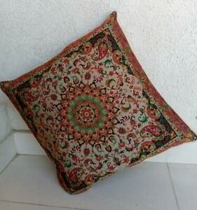 Persian / Turkish Vintage Design Cushion Pillow Cover - 17'' by 17'' (43 x 43cm)