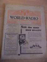 OLD VINTAGE WORLD RADIO TIMES 1930s MAGAZINE 17 OCT 1930 BBC foreign programme