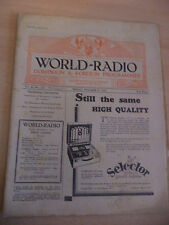 OLD VINTAGE WORLD RADIO TIMES 1930s MAGAZINE 17 OCT 1930 BBC foreign programme