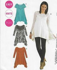 New! Plus Size 18W-24W Easy Pullover Tunic Uncut Sewing Pattern McCall's 6398
