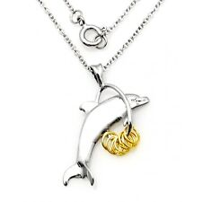 Wish Rings Sterling Silver Dolphin Pendant Necklace