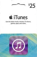 iTunes Gift Card $25 US Apple | App Store Key Code| American USA | iPhone etc..