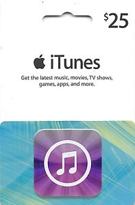 iTunes Gift Card $25 US USD Apple | App Store Key Code | American USA | iPhone