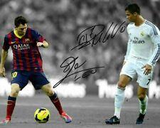Lionel Messi Cristiano Ronaldo El Clasico Signed Action Photo Autograph Reprint
