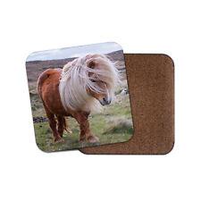 Windswept Shetland Pony Coaster - Cute Horse Ponies Animals Pets Mum Gift #15993