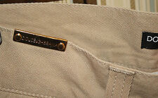 DOLCE & GABBANA PRIMA LINEA first line sfilata uomo 46 beige moda lusso luxury