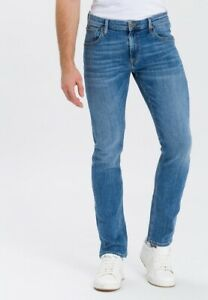 "CROSS DENIM ""Damien"" Herren Regular Waist Slim-straight-fit Farbe:007 Light Blue"
