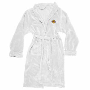 NEW NBA  Basketball LA Lakers L/XL Bathrobe Lounge Sleep Robe - One Size