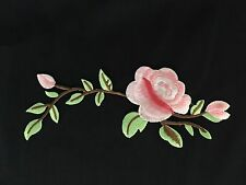 Sew on & iron on  patches(peony Vine-green& Pink)