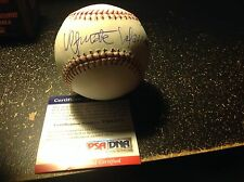 Ultimate Warrior Autographed Baseball PSA DNA  On Sweet Spot