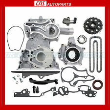 85+ TOYOTA 2.4L 22RE TIMING COVER CHAIN OIL PUMP KIT w/ HD STEEL GUIDE 22R