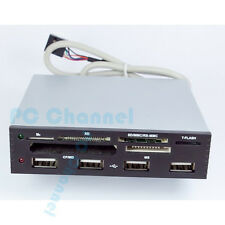 USB 2.0 3.5 IN INTERNAL CARD READER WITH 4 PORT HUB POWER SD SDHC MMS XD M2 CF